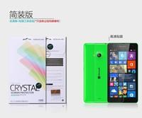 10PCS/LOT Original Nillkin LCD CRYSTAL Anti - fingerprint Screen protector film For NOKIA Lumia 535 Microsoft 1090 Free ship