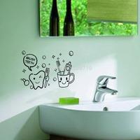 New Casual Toilet Chinese Wallpaper Toothbrush Patterns Cute Warm Self Adhesive Wallpaper Photo Wallpaper Mural