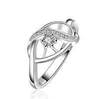 NEW Arrivel 2014 USA EURO Style Fashion Silver plated eyes ceuk Ring Wholesale Jewelry SMTR653