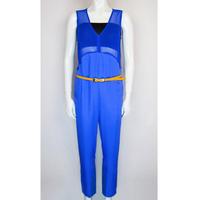 Women dress Fashion 2015  summer brand Women's clothing 100% silk Vest piece pants Women Deep V sexy Evening party overalls