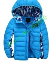 Children down jacket Eider down jacket with hat Do not remove the down jacket baby down jacket