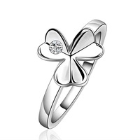 NEW Arrivel 2014 USA EURO Style Fashion Silver plated flower 3 face Ring Wholesale Jewelry SMTR590