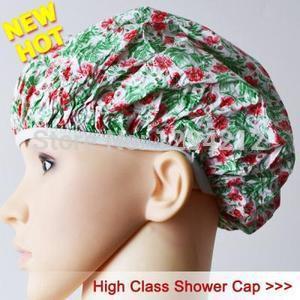 Flower Plastic Shower Cap Nurses Scrub Cap Style A104 93q(China (Mainland))
