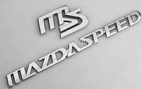 1 Set MS-speed Luxury  Car Chrome 3D Badge Emblem Sticker  Hood Grille Bumper Trail Boot Trunk  16.6cm