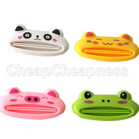 1 Pcs Cartoon Animal Toothpaste Tube Squeezer Easy Squeeze Paste Dispenser Roll Holder Newest Drop Shipping