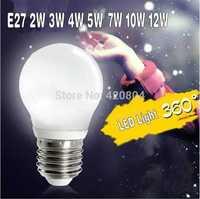1PCS/lot 2015 led bulb lamp High brightness E27 3W 4W 5W 7W 10W 12W 3528SMD Cold white/warm white AC110- 260V Free shipping