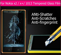 "1pcs Best Premium Tempered Glass film for nokia x2 1013 X2DS 4.3"" Anti-shatter Screen Protector panel guard with retail package"