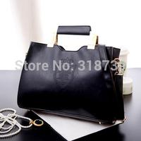 Fashion women's handbag 2014 female vintage bag punk handbag brief one shoulder black big bags