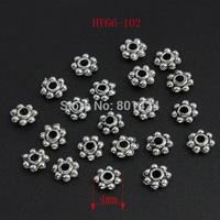 free shipping 300pcs 66-102 Tibetan silver Daisy spacer beads bali beads 4mm metal beads