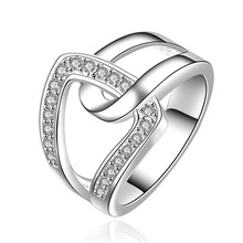 NEW Arrivel 2014 USA EURO Style Fashion Silver plated hand in hand qua Ring Wholesale Jewelry SMTR634