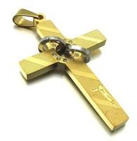 Wholesale + retail  316L Stainless Steel men's cross Pendant Necklace 10021801(074201)