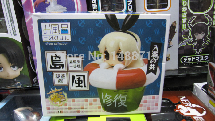 New Hot Shimakaze Destroyer Cute Bath Swim Ring Figure Game Kan Colle Combined Fleet Girls Collection 10CM PVC Toys Box(China (Mainland))