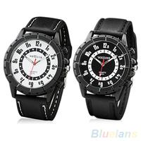 Men's Fashion Silicone Rubber Band Sports Round Dial Analog Quartz Wrist Watch
