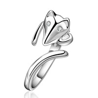 NEW Arrivel 2014 USA EURO Style Fashion Silver plated fox on finger Ring Wholesale Jewelry SMTR589