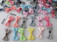 FZ0036 Printed Ribbon bowties without clip 300pcs randomly mixed hair accessories garment accessory