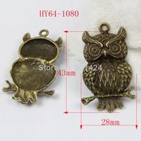 free shipping 7pcs 64-1080 antique bronze owl pendant charms  diy decoration  fashion metal beads  jewelry charm