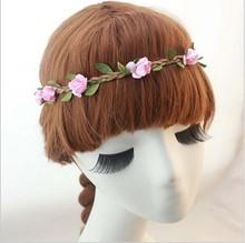Hot Sale New Fashion Womens Bohemia Beach Flower Hair Bands Headband Hair Accessory 9 Colors Drop Shipping Headwear CJWD11(China (Mainland))