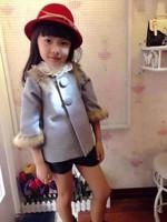children's clothing wholesale manufacturers selling children's girl Maomao woolen coat