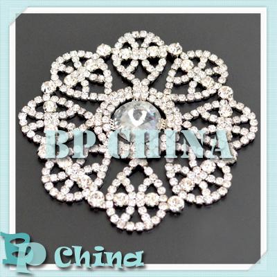 (1pc/lot) Silver Crystal Rhinestone Embllishment Applique, DIY Garment Accessories, BP3-0147S(China (Mainland))