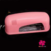 High Quality 9W Pink Nail Art UV Gel Lamp  Nail Art Dryer For Curing Nails Arts With 1PCS 365nm UV Bulb + EU Plug