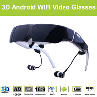 98 Inch 3D Android WIFI Video Glasses 1080P HMD Portable Personal Cinema Theater Support Glasses