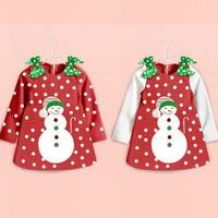 New Fashion Girl Christmas Dress Merry Christmas Dresses Kids Cotton Dot Casual Dress Girls cute Dress