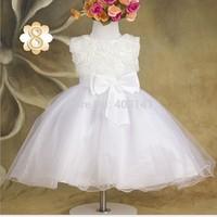 christmas Flower Girls Party Dress roupas Vestidos Infantis De Meninas Girl Dance Dresses Bow Vest Summer Costumes Clothes 2T-6T