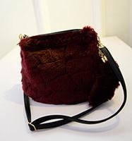 Free Shipping Cute Faux Fur Messenger Bags Winter Women Furry Shouder Bags Chic Bucket Bags