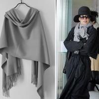 Fashion Shawl Wrap Cape Oversized Soft Fringe Checked Plaid Blanket Scarf S29