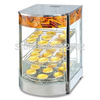 3Layers hot counter electric cake display showcase, hot display warmer cake showcase