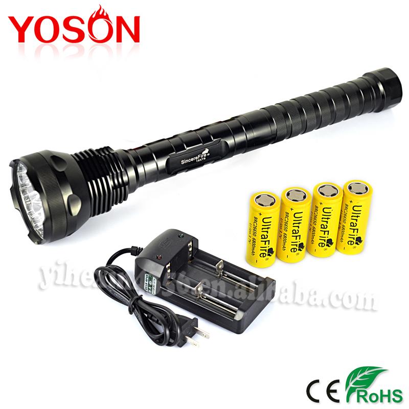 Фонарик YISON Ultrabright 15T6 16000LM 15xCree xm/l T6 5/led , +  EFL0235 гарнитура yison d7 pink