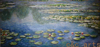 Free shipping!High quality home decoration wall art famous oil paintings reproductions large canvas art cheap Monet water lilies