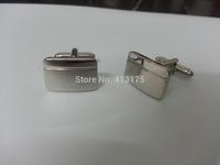 2014  fashion cufflink silver cufflink plain cufflink for wedding and gift