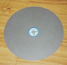 Lija de arena de bandeja 30 cm disco de diamante de pulido de talla de piedra cuchillo de trinchar whetstone grupo