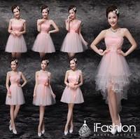 Fashionable short bridesmaid dresses 2014 party dress vestido para festa vestido de madrinha bn21