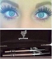 [2pcs] new Younique 3D FIBER LASHES MASCARA Set Makeup lash volumizing Moodstruck eyelash lengthening waterproof make up rimel