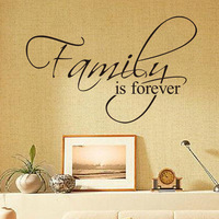 Free Shipping Hot Sale 2015 Living Room Wallpaper Family Is Forever Words Wall Paper For Couple Home Wallpaper Papel De Parede