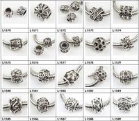 2014 Newest 27style Antique silver zinc alloy Beads Apple Flower Paw fit EU Charm Bracelets
