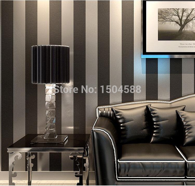 great wall non woven black white silver gold glitter striped wallpaper