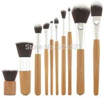 10 PCS Pro Cosmetic Brush set Bamboo Handle Synthetic Makeup Brushes Kit make up brush set tools