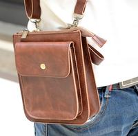 Leather Waist Bag for Woman Fanny Pack Travel Bags Waist Pack Passport Wallet Money Belt Bag Phone Pouch Shoulder Hip Bum Bag