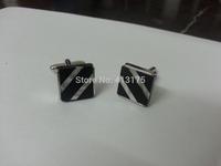 Fancy Men's Cuff Links New Black Silver Shell CUFFLINKS fashion cufflink