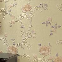 VIntage Florals Wallpaper Roll papel de parede 3d bedroom wall paper  para quarto do casal flores zk14