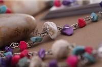 Natural semi-precious stones glasses  chain accesories