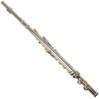 High Quality Silver Plated 16 Closed Holes C Key Flute with Case / Cloth / Screwdriver