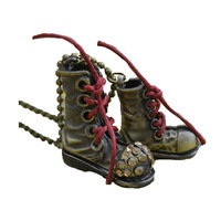 bronze color crystal boot shoe vintage pendant necklace women wholesale Fashion retro new lady girl fun cute nice beautiful