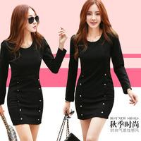 Autumn Dress Women Slim dress female Korean yards package hip bottoming temperament long-sleeved dress