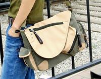 2015 New arrive british style Superb of you men messenger bag shoulder bag canvas with leather men's travel bag business package