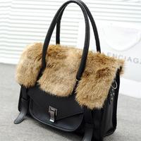 new 2014 Freeshipping 2012 winter bags fur women handbag fashion handbag messenger bags