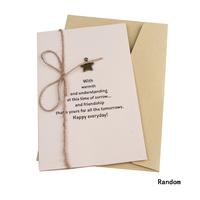 Drop Shipping   New Arrival  Diy  Vintage  Metal Ornament  Birthday  Christmas Random Pattern Festivals CARDS